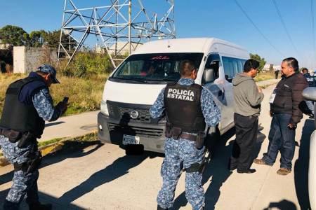 En operativo contra transporte 'pirata_ en Tizayuca, 15 unidades aseguradas2