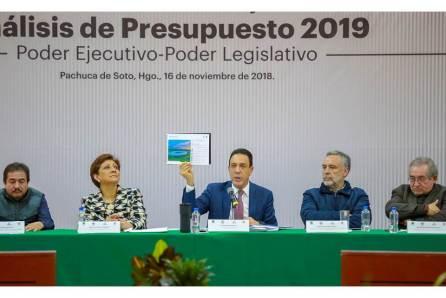 En unidad, Hidalgo trabaja para construir un presupuesto 2019 responsable
