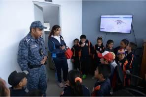 Estudiantes visitan Secretaría de Seguridad Pública de Hidalgo