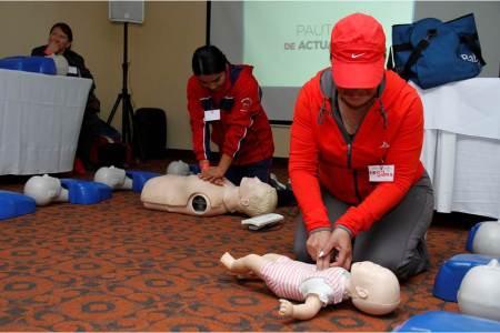 Imparten capacitación a agentes educativos sobre formación de primeros respondientes en primeros auxilios pediátricos2