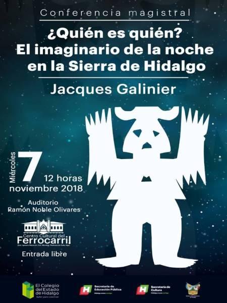 Jacques Galinier impartirá la conferencia 2