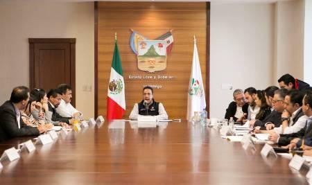 Omar Fayad sostiene reunión con diputados Federales hidalguenses