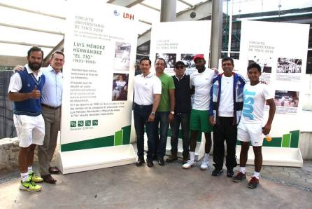 """Organiza UAEH circuito de tenis; reconoce a Luis Méndez """"El Tío""""3"""