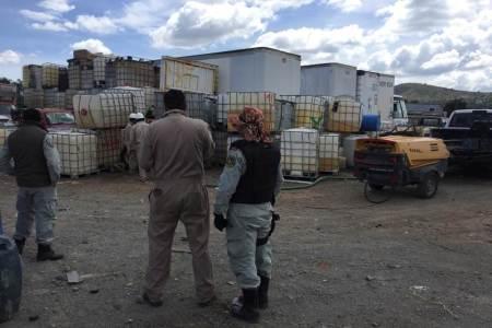 PGR realiza en Hidalgo trasvase de más de un millón de litros de hidrocarburo a Pemex