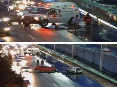Pierde la vida una persona al registrarse un choque en el Río de las Avenidas, en Pachuca