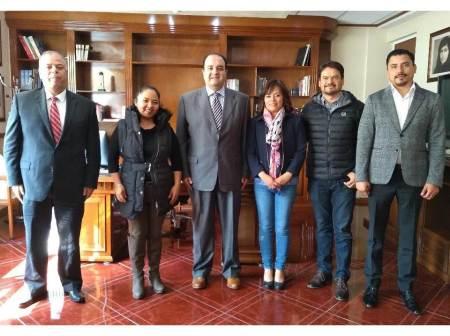 Se reúne ombudsperson hidalguense con integrantes de la Comisión de Derechos Humanos del Congreso del Estado