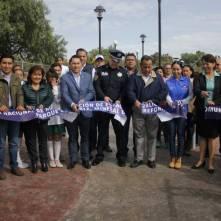 """Se rehabilita Parque """"El Roble"""" en coordinación con la Policía Federal4"""