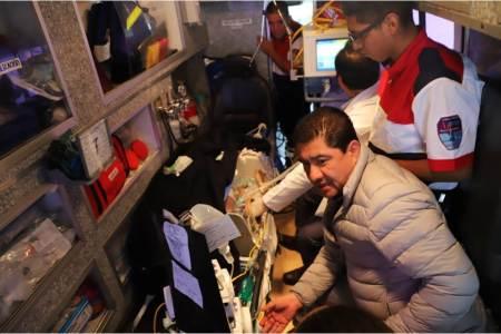 Trasladan al Hospital Infantil de México a un recién nacido con problemas del corazón; secretario de SSH supervisa el servicio