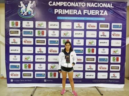 Ximena Figueroa obtiene medalla de oro en Campeonato Nacional de Primera Fuerza en tenis de mesa