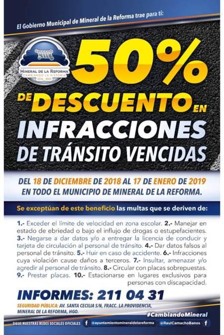 Aprueba Ayuntamiento de Mineral de la Reforma Presupuesto de Egresos 2019 y Descuento del 50% en infracciones vencidas3