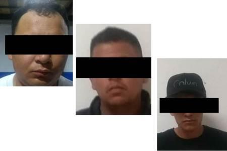 Detiene policía de Tizayuca a trío de probables asaltantes que operaban en Unidad Habitacional