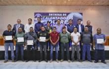 Entrega Mineral de la Reforma más de 370 calentadores solares3