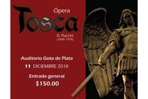 """Ópera """"Tosca"""" De Giacomo Puccini se presentará en Pachuca"""