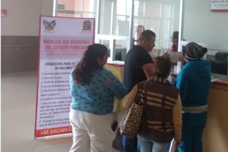 Santiago Tulantepec cuenta con módulo de registro del Estado Familiar en Hospital Regional