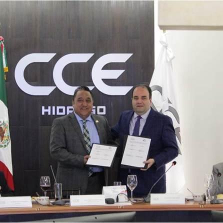cdheh y cce del estado de hidalgo firman convenio de colaboración