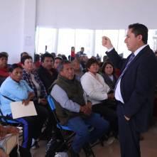entrega alcalde raúl camacho sellos oficiales a delegados y subdelegados de mineral de la reforma 2