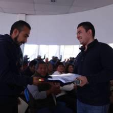 entrega alcalde raúl camacho sellos oficiales a delegados y subdelegados de mineral de la reforma 4