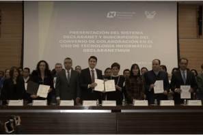poder judicial, organismos autónomos y municipios suscriben convenio de colaboración con la contraloría para uso de declaranet3