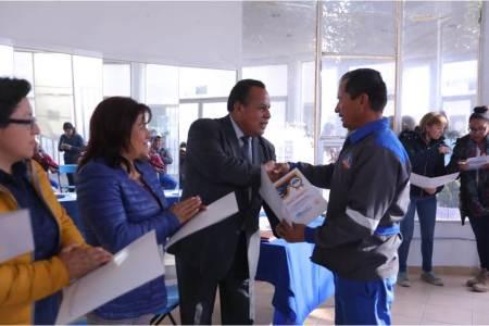 se certifican trabajadores municipales en conducción de vehículos oficiales en mineral de la reforma