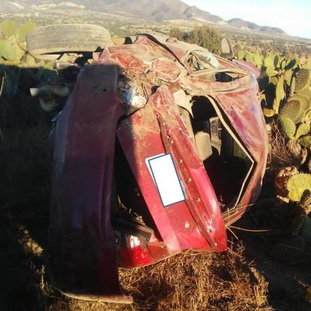 Accidente en el tramo de Zempoala; una persona muerta y otra herida