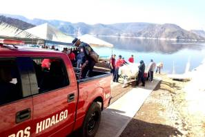 Bomberos colaboran en búsqueda de persona no localizada en Zimapán