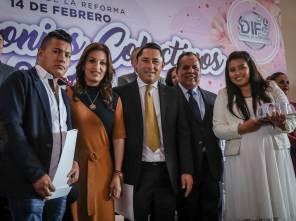 Celebran Matrimonios Colectivos 2019 en Mineral de la Reforma en el marco del Día del Amor y la Amistad