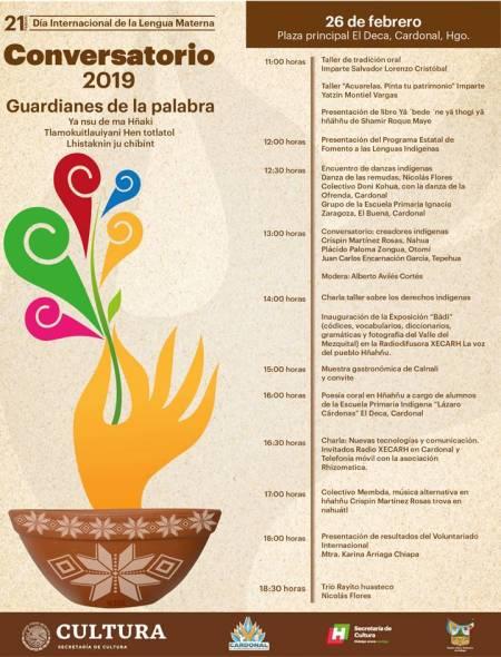 Continúa Secretaría de Cultura con celebraciones por el año internacional de lenguas indígenas