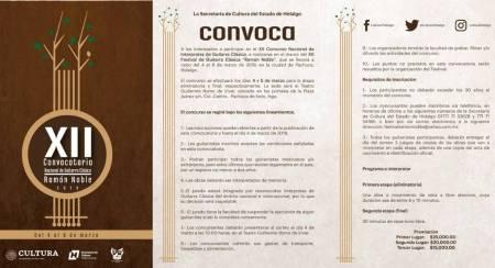 Convoca Secretaría de Cultura a Nacional de Guitarra Clásica Ramón Noble2