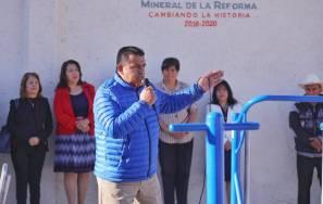 Entrega gobierno municipal de Mineral de la Reforma aparatos ejercitadores en Pachuquilla2