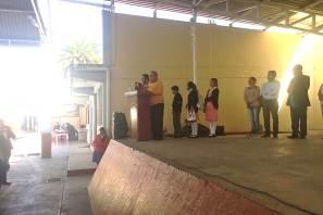 La comunidad de la Secundaria Nezahualcóyotl, de Tlahuelilpan recibe a Ricardo Baptista