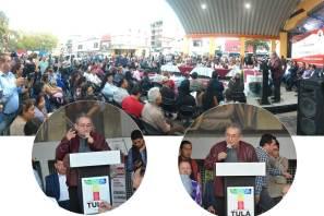 Presenta diputado Baptista informe de actividades legislativas en el Teatro al Aire Libre de Tula