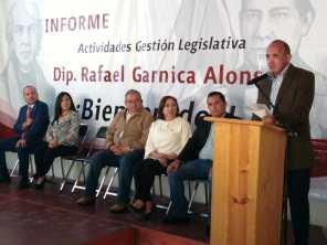 Presenta diputado Rafael Garnica informe de trabajo legislativo