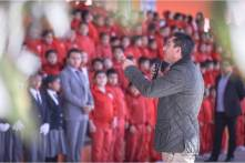 Raúl Camacho entrega aula en escuela primaria de San Guillermo La Reforma