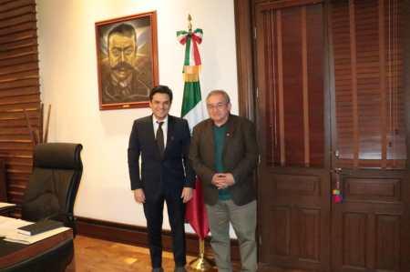 Se reúnen subsecretario de Gobernación Zoé Robledo y el presidente de la Junta del Congreso de Hidalgo Ricardo Baptista