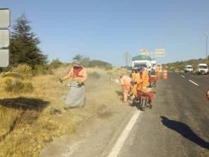 SOPOT continúa con labores de mantenimiento en carretera Pachuca Real del Monte1