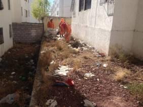 SOPOT ejecuta trabajos de limpieza en la colonia 11 de Julio2