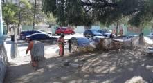SOPOT ejecuta trabajos de limpieza en la colonia 11 de Julio4