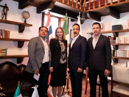 Sostiene Omar Fayad reunión con Embajadora de Noruega2
