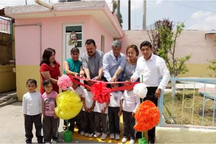 Alcalde de Tizayuca inaugura obras en el Jardín de Niños Bernal Díaz del Castillo