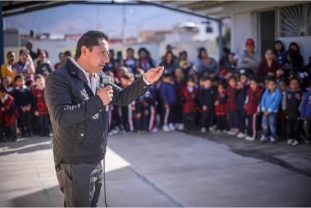 """Alcalde Raúl Camacho entrega aula en Jardín de Niños """"Octavio Paz"""" de Campestre Villas del Álamo4"""
