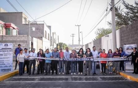 Entrega municipio ampliación de red de agua potable, drenaje sanitario y dren pluvial en Carboneras 4