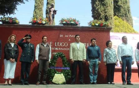 Jiménez Rojo encabeza homenaje a ex gobernador José Lugo Guerrero 1