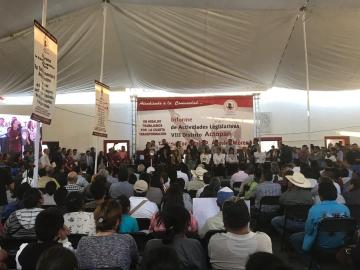 La diputada Tatiana Ángeles presenta primer informe de labores legislativas