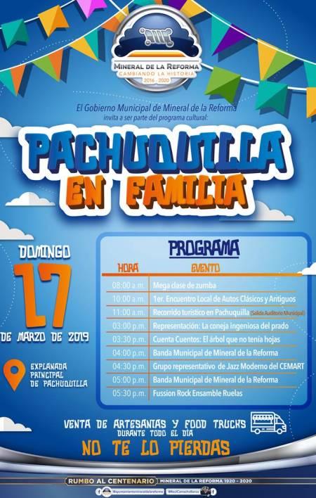 """Municipio de Mineral de la Reforma invita a programa dominical """"Pachuquilla en Familia"""""""
