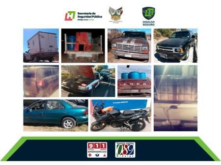 Policía estatal recupera vehículos con reporte de robo en región de Pachuca