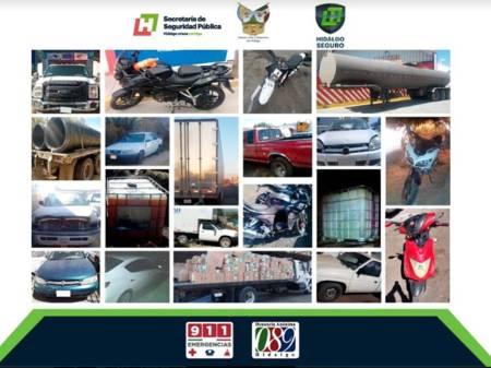 Recupera Policía Estatal 17 vehículos con reporte de robo en Tepeji