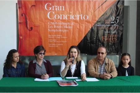 160 músicos en escena en un concierto infantil apoyado por Sectru-H