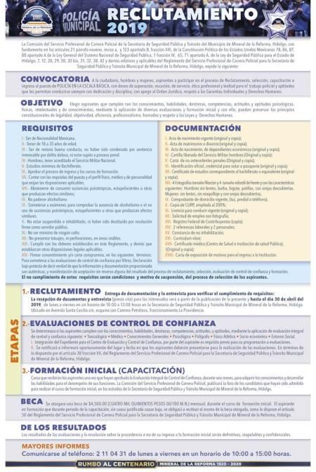 Arranca reclutamiento 2019 para policías en Mineral de la Reforma.jpg