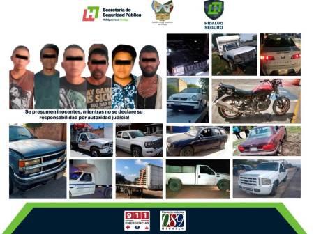 Con operativo, aseguran a seis individuos por probables ilícitos