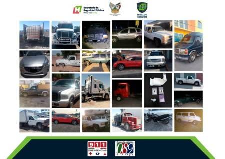 En operativo detienen a cuatro por probables delitos y recuperan 24 vehículos robados